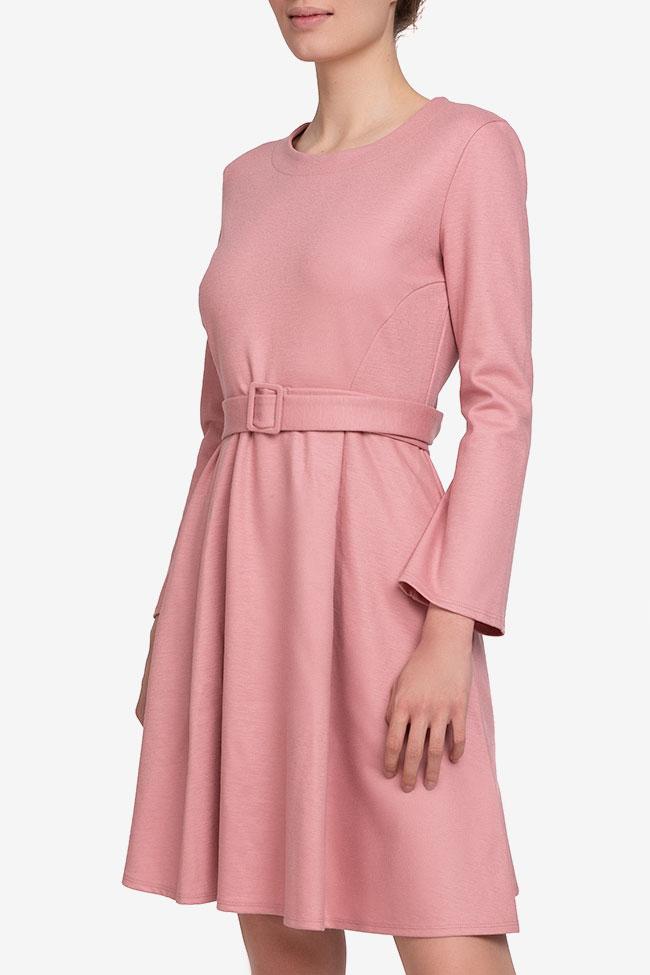 Rochie roz din lana cu cordon in talie Marella imagine 0