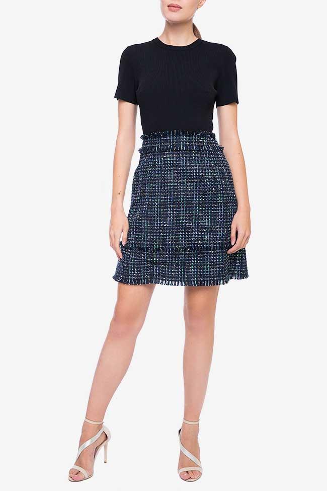 Rochie din tricot cu fusta albastra Ted Baker imagine 0