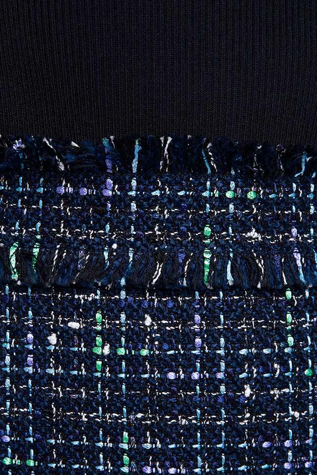 Rochie din tricot cu fusta albastra Ted Baker imagine 2